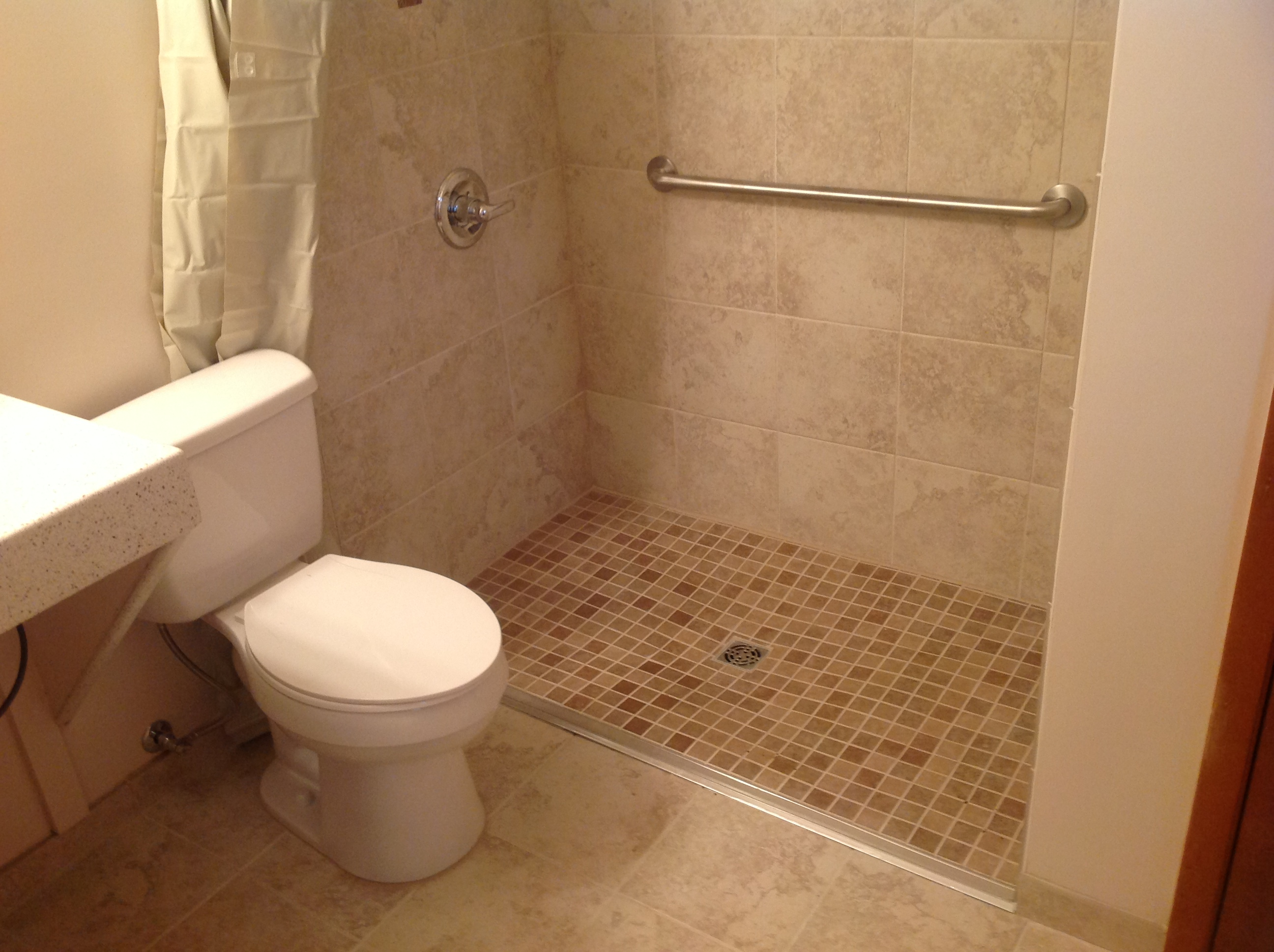 Handicap Bathroom Remodel Gorgeous Handicap Accessible Bathroom  Guyson Construction  Roofing . Decorating Design